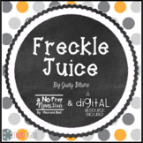 Freckle Juice Novel Study or guided reading unit