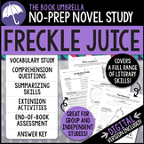 Freckle Juice Novel Study - Judy Blume