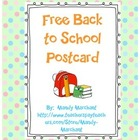 Free Back to School Postcard