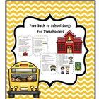 Free Back to School Songs for Preschoolers