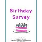 Birthday Survey (months, cardinal/ordinal numbers)