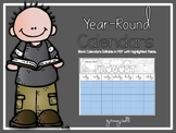 Free Blank Monthly Calendars {Editable}