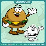 FREE Cartoon Cheeseburger Clipart Character