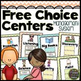 EDITABLE Free Choice Center Management {Chevron Classroom Set}