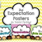 Free Classroom Expectation Posters