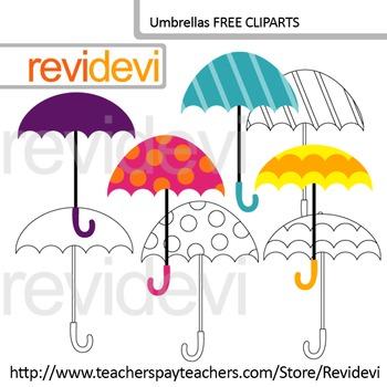 Free Clipart - Umbrella Digital Clip art - Freebie by Revidevi