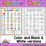Free Colorful Alphabet Chart (black & white version includ