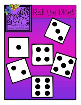 {Free} Dice Clipart {Creative Clips Digital Clipart}