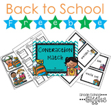 Free Downloads Back to School Contraction Match