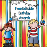Free Editable Birthday Awards