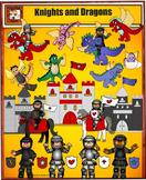 New Knights, Castles, Horses, and Dragons Clip art