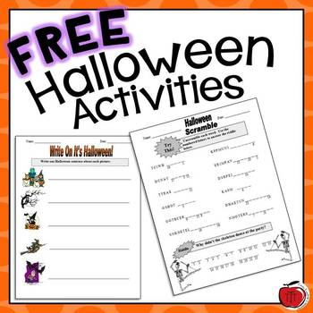 Free Halloween Worksheets