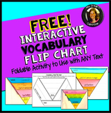 Free Interactive Vocabulary Flip Book Activity Common Core