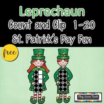 Leprechaun St. Patrick's Day Count & Clip 1-20 Free