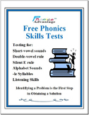Free Phonics Skills Test by Phonics Advantage™