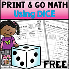 Free Print and Go Math Using Dice