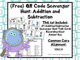 QR Codes Addition and Subtraction Scavenger Hunt
