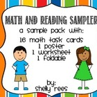 Free Sample Pack: Math Task Cards, Foldable, Theme Workshe
