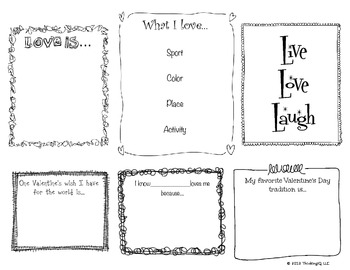 Valentine's Day Think Book- Free sample page