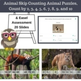 Free Skip Counting Animal Puzzles, Count by 2, 3, 4, 5, 6,