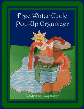 Free Water Cycle Pop-Up Organizer