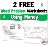 Free Word Problem Worksheets using Money