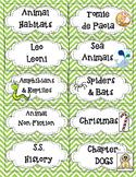 Free sample of Book Bin Labels