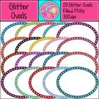 {Freebie} Glitter Ovals Headers Labels Clip Art CU OK