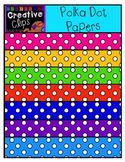 Freebie! Polka Dot Papers {Creative Clips Digital Clipart}