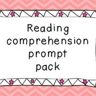 ~Freebie!~ Reading comprehension prompt pack  - 32 questio