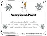 Freebie- Snowy Speech Articulation Packet