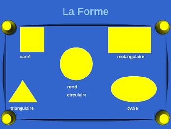 French - Comment decrire un objet - describing an object
