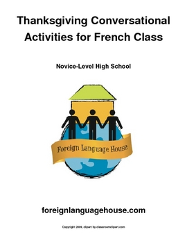 French Conversational Activities About Thanksgiving Break