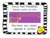 French Nameplates - Sous-main couleur, alphabet et chiffres