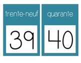 French Number Line Ligne de numéros
