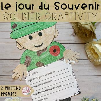 French Remembrance Day Activity - Soldat CRAFT (ACTIVITÉ: le jour du souvenir)