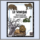 French – le Sénégal – Word Search and Sentence Completion