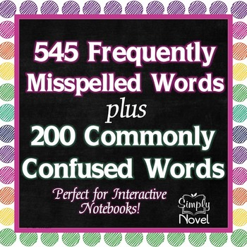 Frequently Misspelled and Commonly Confused Word Lists