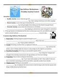 Freud:Ego Defense Mechanisms/Psychoanalysis: Guided Notes