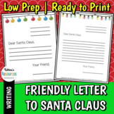 Friendly Letter to Santa Claus (Template)