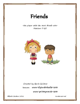 Friends 11-20 math game