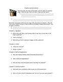 Frights, Camera, Action- Comprehension Questions