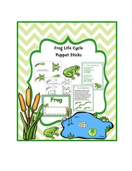 Frog Life Cycle Puppet Sticks