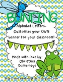Frog & Pond Themed Buntings- Customize Your Own Banner!