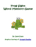 Frog Sight Word Memory Game