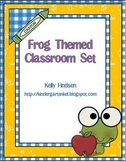 Frog Theme Classroom Pack
