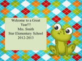 Frog Theme Open House~~ Back to School