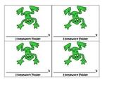 Frog Theme homework folder labels
