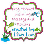 Frog Themed Morning Message and Routine SMART Board!