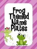 Frog Themed Name Plates